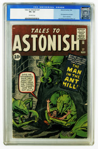Tales to Astonish #27 (Marvel, 1962) CGC VG- 3.5 Off-white pages. This issue is the most valuable in the series, and wit...