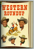 Golden Age (1938-1955):Miscellaneous, Dell Giant Comics Western Roundup #1-4 Bound Volume (Dell, 1952-53). Bound and trimmed Western Publishing file copies make u...