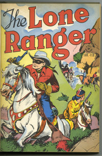 The Lone Ranger #1-12 Bound Volume (Dell, 1948-49). Western Publishing file copies of Lone Ranger #1, 2, 3, 4, 5, 6, 7...