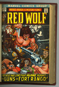 Bronze Age (1970-1979):Western, Red Wolf and Others Bound Volume (Marvel, 1970-73). Copies of Avengers #80 (intro of Red Wolf); Red Wolf #1, 2, 3, 4...