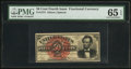Fractional Currency:Fourth Issue, Fr. 1374 50¢ Fourth Issue Lincoln PMG Gem Uncirculated 65 EPQ.. ...