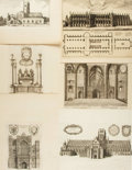 Books:Prints & Leaves, Wenceslaus Hollar. Three Original Cathedral Plates (1647 - 1673)and Eighteen Large Illustrations from The History of St. Paul...