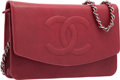 "Luxury Accessories:Bags, Chanel Burgundy Red Leather Timeless Wallet on Chain Bag withSilver Hardware. Excellent to Pristine Condition. 7.5""W..."