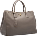 "Luxury Accessories:Bags, Prada Grafite Gray Saffiano Leather Lux Tote Bag. ExcellentCondition. 15"" Width x 10"" Height x 7"" Depth. ..."