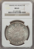 Mexico, Mexico: Republic 8 Reales 1846 Mo-MF MS63 NGC,...