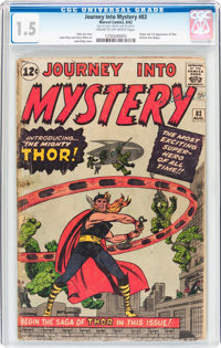 Journey Into Mystery #83 (Marvel, 1962) CGC FR/GD 1.5 Cream to off-white pages