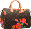 Luxury Accessories:Bags, Louis Vuitton Limited Edition Monogram Roses Canvas Speedy 30 Bagby Stephen Sprouse. Excellent to Pristine Condition. ...