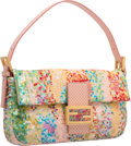 Luxury Accessories:Bags, Fendi Limited Edition Baguette Mania Collection Pink &Multicolor Ricami Embroidered Sequin Baguette Bag. Excellent toPri...
