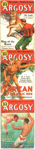 Books:Pulps, [Pulps]. Edgar Rice Burroughs. Complete Three Part Serialization ofthe Burroughs Story Tarzan and the Magic Men. ...