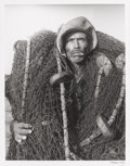 Photographs, Manuel Carrillo (Mexican, 1906-1989). Fisherman. Gelatin silver. 12-1/4 x 9-1/2 inches (31.1 x 24.1 cm). Signed in ink m...