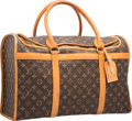 "Luxury Accessories:Accessories, Louis Vuitton Brown Classic Monogram Canvas Sac Chien 50 PetCarrier Bag. Good to Very Good Condition. 20"" Width x12...."
