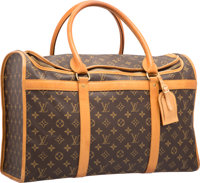 Louis Vuitton Brown Classic Monogram Canvas Sac Chien 50 Pet Carrier Bag Good to Very Good Condition