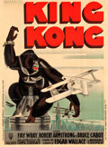 "Movie Posters:Horror, King Kong (RKO, 1933). French Grande (47"" X 63"") Style B, RenePeron Artwork.. ..."