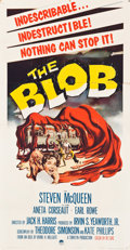 "Movie Posters:Science Fiction, The Blob (Paramount, 1958). Three Sheet (41"" X 81"").. ..."