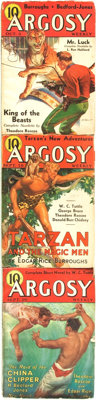 [Pulps]. Edgar Rice Burroughs. Complete Three Part Serialization of the Burroughs Story Tarzan and the Magic Me