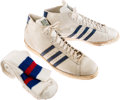 Basketball Collectibles:Uniforms, 1970's Artis Gilmore Game Worn Kentucky Colonels Sneakers andSocks....