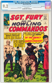 Sgt. Fury and His Howling Commandos #5 Western Penn pedigree (Marvel, 1964) CGC NM- 9.2 Off-white to white pages