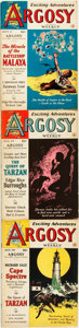 Books:Pulps, [Pulps]. Edgar Rice Burroughs. Complete Three Part Serialization ofthe Burroughs Story The Quest of Tarzan...