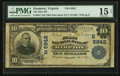 National Bank Notes:Virginia, Hampton, VA - $10 1902 Plain Back Fr. 624 The First NB Ch. #(S)6842. ...