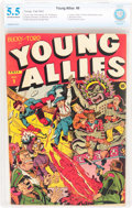 Golden Age (1938-1955):Superhero, Young Allies Comics #9 (Timely, 1943) CBCS FN- 5.5 Off-white to white pages....