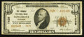 National Bank Notes:Colorado, Longmont, CO - $10 1929 Ty. 2 The Longmont NB Ch. # 7839. ...