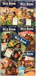 Books:Pulps, [Pulps]. Edgar Rice Burroughs. Complete Seven Part Serialization of the Burroughs Story Tarzan at the Earth's Core...