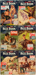 Books:Pulps, [Pulps]. Edgar Rice Burroughs. Complete Six Part Serialization ofthe Burroughs Story Tanar of Pellucidar. Blu...
