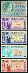 Military Payment Certificates:Series 692, Series 692 5¢; 10¢; 25¢; 50¢; $1.. ... (Total: 5 notes)