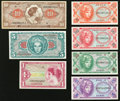 Military Payment Certificates:Series 641, Series 641 5¢; 10¢; 25¢; 50¢; $1; $5; $10.. ... (Total: 7 notes)