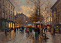 Paintings, Edouard-Léon Cortès (French, 1882-1969). Place de la Madeleine, circa 1967. Oil on canvas. 26 x 36-1/2 inches (66.0 x 92...