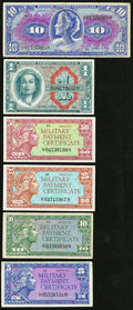 Military Payment Certificates:Series 611, Military Payment Certificate Series 611 5¢; 10¢; 25¢; 50¢; $1; $10.. ... (Total: 6 notes)