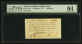 Colonial Notes:North Carolina, North Carolina December, 1771 5s PMG Choice Uncirculated 64.. ...