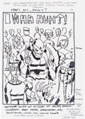 Original Comic Art:Miscellaneous, Jim Mahfood Wha... Huh? Wolverine and Others CoverPreliminary Original Art (Marvel, 2005)....