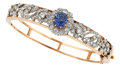Estate Jewelry:Bracelets, Sapphire, Diamond, Platinum, Gold Bracelet. ...