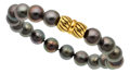 Estate Jewelry:Bracelets, South Sea Cultured Pearl, Gold Bracelet, Cartier. ...
