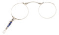 Estate Jewelry:Other , Sapphire, Platinum Lorgnette. ...