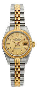 Estate Jewelry:Watches, Rolex Lady's Gold, Stainless Steel Oyster Perpetual Datejust Watch, circa 1987. ...