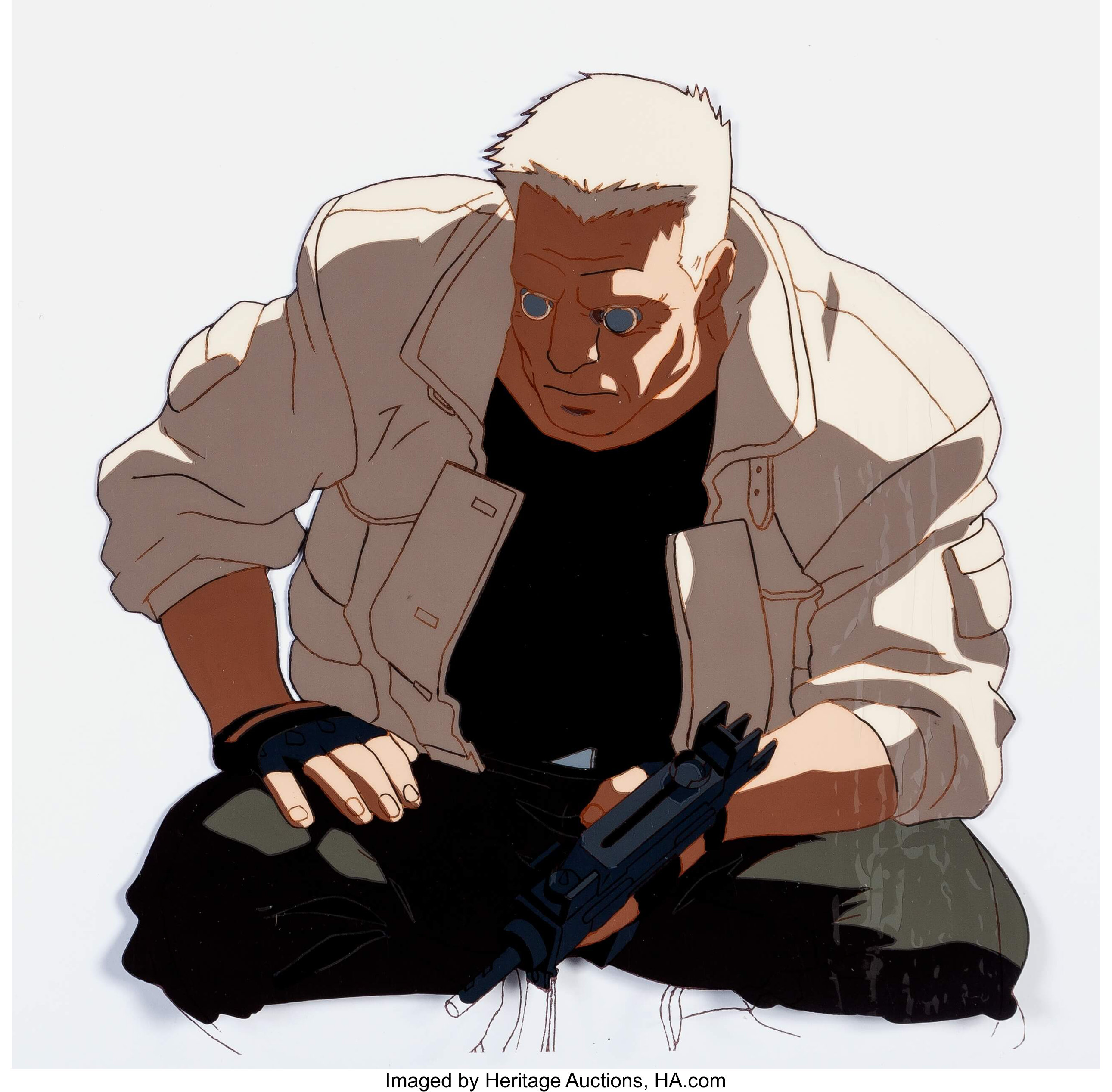 Ghost In The Shell Batou Anime Production Cel And Matching Lot 13158 Heritage Auctions