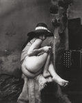 Photographs, Jan Saudek (Czech, b. 1935). Seated Nude with Hat, 1973. Gelatin silver. 13-1/2 x 11 inches (34.3 x 27.9 cm). Signed in ...