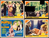 """Escapade (MGM, 1935). Title Lobby Card & Lobby Cards (3) (11"""" X 14""""). Comedy. ... (Total: 4 Items)"""