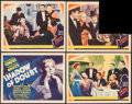"""Movie Posters:Mystery, Shadow of Doubt (MGM, 1935). Title Lobby Card and Lobby Cards (3)(11"""" X 14""""). Mystery.. ... (Total: 4 Items)"""