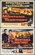 "Movie Posters:Western, Montana Territory (Columbia, 1952). Half Sheets (2) (22"" X 28"") Styles A & B. Western.. ... (Total: 2 Items)"