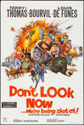 "Movie Posters:War, Don't Look Now...We're Being Shot At (Rank, 1969). British OneSheet (27"" X 40""), Photos (4) (8"" X 10""), & German LobbyCard... (Total: 9 Items)"