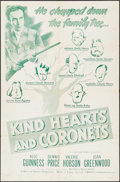 "Movie Posters:Comedy, Kind Hearts and Coronets (Continental, R-1950s). One Sheet (27"" X 41""). Comedy.. ..."