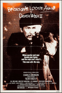 """Death Wish 2 & Other Lot (Filmways, 1982). Autographed One Sheets (2) (27"""" X 41""""). Action. ... (Total: 2 I..."""