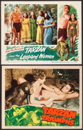 "Movie Posters:Adventure, Tarzan and the Leopard Woman & Other Lot (RKO, 1946). LobbyCards (2) (11"" X 14""). Adventure.. ... (Total: 2 Items)"