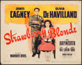 """Movie Posters:Comedy, The Strawberry Blonde (Warner Brothers, 1941). Title Lobby Card (11"""" X 14""""). Comedy.. ..."""