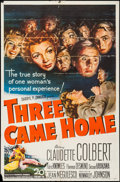 "Movie Posters:War, Three Came Home (20th Century Fox, 1949). One Sheet (27"" X 41"").War.. ..."