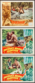 "Movie Posters:Adventure, Tarzan's Magic Fountain & Other Lot (RKO, 1949). Lobby Cards (3) (11"" X 14""). Adventure.. ... (Total: 3 Items)"