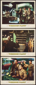 "Movie Posters:Science Fiction, Forbidden Planet (MGM, 1956). Lobby Cards (3) (11"" X 14""). ScienceFiction.. ... (Total: 3 Items)"